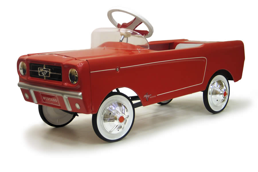 pedal car rouge groupenetwork vente mustang voiture enfant antique reproduction