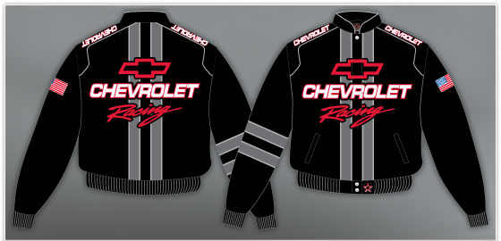 Manteau chevrolet racing rayé coursé stripe camaross chevelle