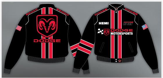 groupe Network manteau twill brodé Dodge motorsport Hemi
