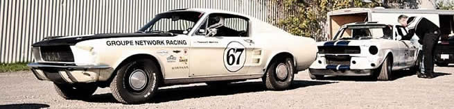 Groupe Network racing team projet mustang de course vintage